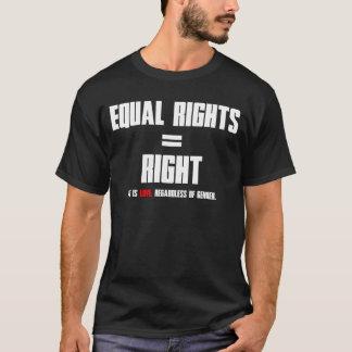 Camiseta Direitos iguais = direito (texto branco)