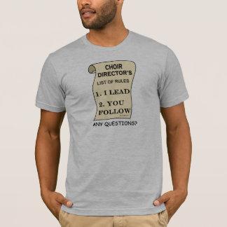Camiseta Diretor Lista Regra do coro