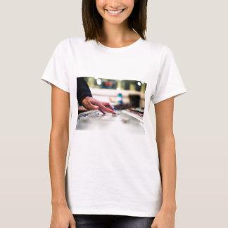 Camiseta Disco-jóquei de mistura do slider do controle da