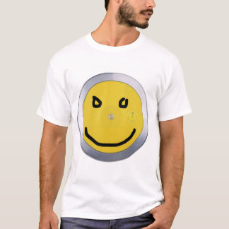 Camiseta disco, smiley do marcador