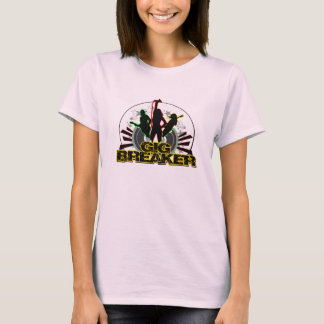 "Camiseta Disjuntor da actuação - logotipo do ""estoiro"""