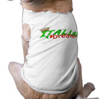 Camiseta Disjuntor italiano do coração com coroa