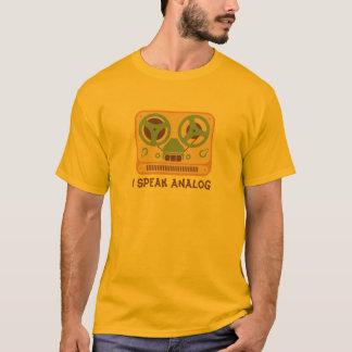 Camiseta Dispositivo análogo do gravador bobina a bobina