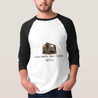 Camiseta dispositivo de memória de massa audio dos meios