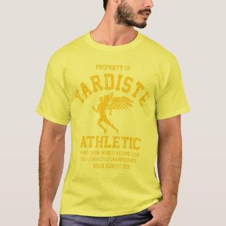 Camiseta dist novo voado yardiste do amarelo do corredor
