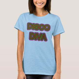 Camiseta Diva de incandescência do disco dos anos setenta