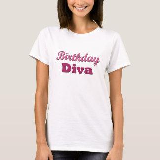 Camiseta Diva do aniversário