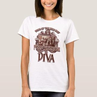 Camiseta Diva do armazenamento da comida:  Orgulho da