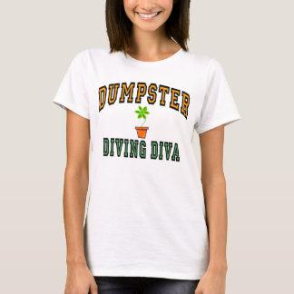 Camiseta Diva do mergulho do contentor