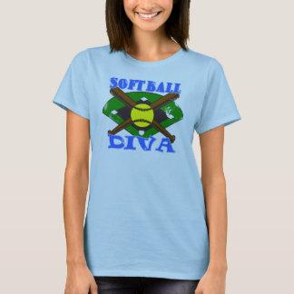 Camiseta Diva do softball