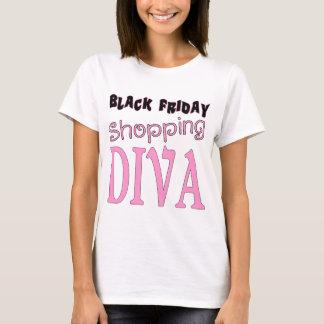 Camiseta DIVA preta da compra de sexta-feira