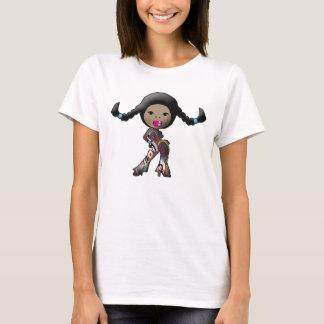 Camiseta diva trançada