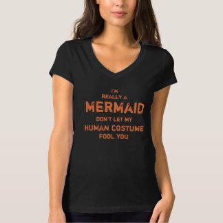 Camiseta Divertido eu sou realmente uma sereia o Dia das