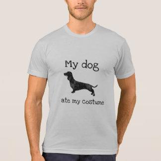 Camiseta Divertido meu cão comeu meu traje o Dia das Bruxas