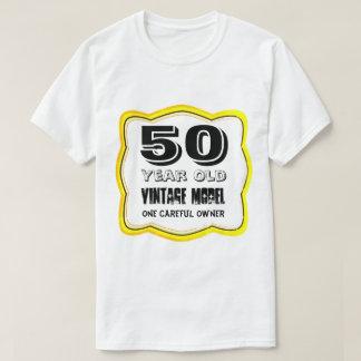 Camiseta Divertimento 50 do vintage anos aniversário das