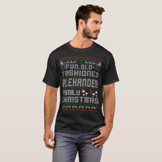 Camiseta divertimento antiquado, Natal da família de