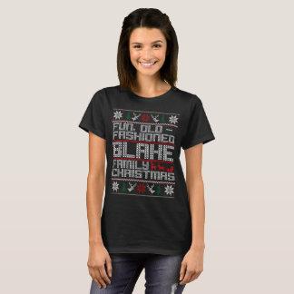 Camiseta divertimento antiquado, Natal da família de blake