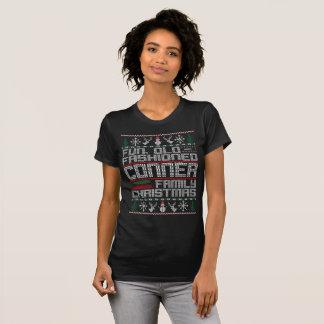Camiseta Divertimento antiquado, Natal da família de Conner