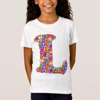 Camiseta Divertimento coração dinâmico colorido L enchido