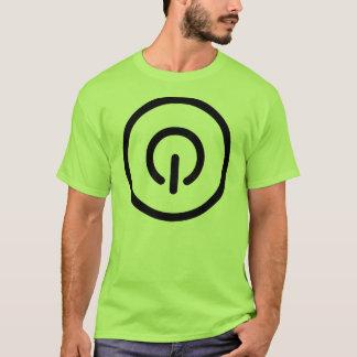 Camiseta Divertimento do botão do poder