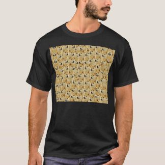 Camiseta divertimento do doge do shibe e meme engraçado