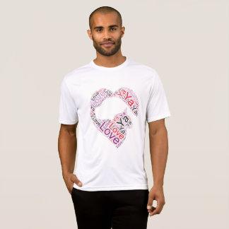 """Camiseta Divertimento e cão ocasional """"amor do gato você"""""""