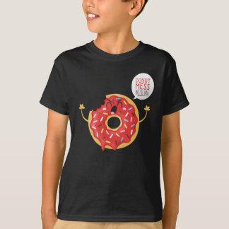 Camiseta Divertimento legal do skate da rosquinha do tShirt