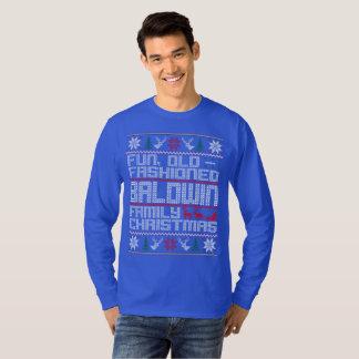 Camiseta divertimento, Natal antiquado da família do