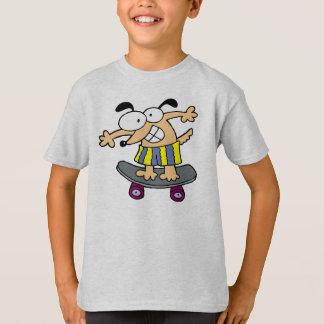 Camiseta Divertimento Skateboarding Skateboar do caráter do
