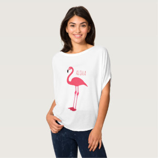 Camiseta Divertimento tropical ALOHA do flamingo