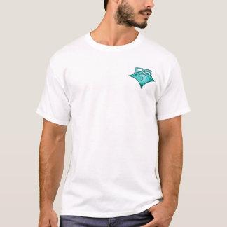 Camiseta Divine o logotipo verde da corrediça