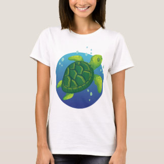 Camiseta Diving water ocean sea turtle