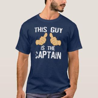Camiseta Dizer engraçado do capitão do barco