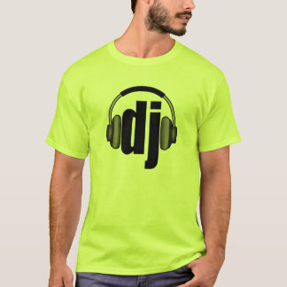 Camiseta DJ - T-shirt   do disco-jóquei