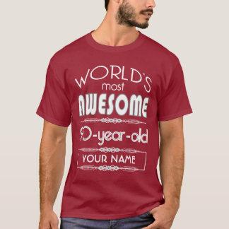 Camiseta do 90 do aniversário dos mundos obscuridade