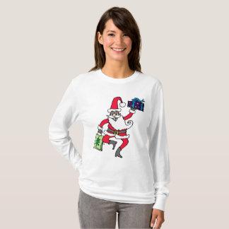 """Camiseta Do """"A luva longa T das mulheres da agitação"""