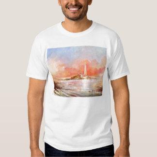 Camiseta do adulto do farol de Marys da rua