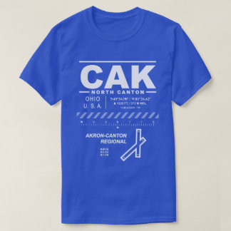Camiseta do aeroporto CAK do Akron-Cantão