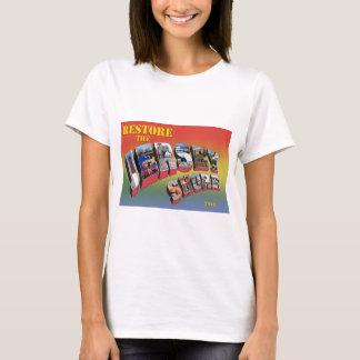 Camiseta do alivio do furacão da costa do jérsei