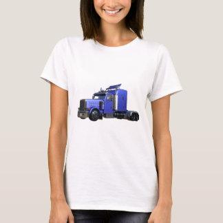 Camiseta Do azul caminhão metálico semi na opinião dos três