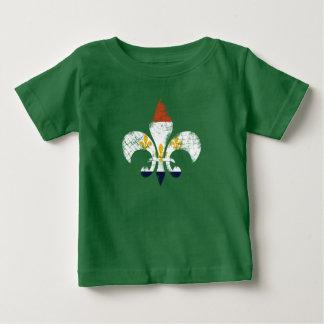 Camiseta do bebê da bandeira de NOLA da flor de