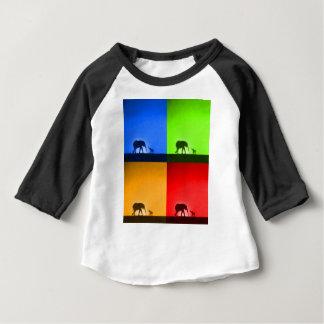 camiseta do bebê do safari de selva