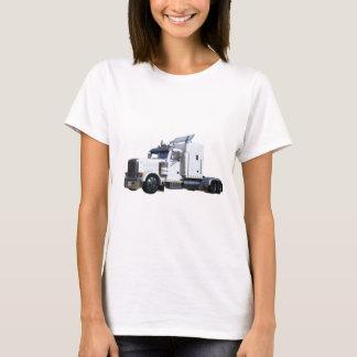Camiseta Do branco reboque de tractor semi