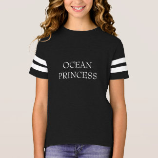 "Camiseta Do ""camisa da princesa"" futebol oceano"