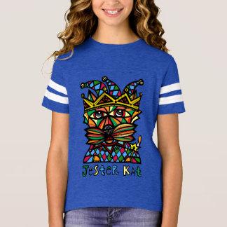 "Camiseta Do ""camisa de esporte das meninas do Kat bobo da"