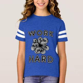 """Camiseta Do """"camisa de esportes"""" das meninas duras trabalho"""