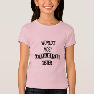 """Camiseta Do """"camisa do Sis do divertimento da irmã a mais"""