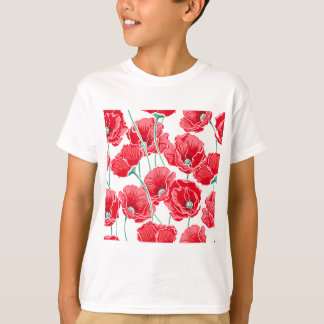 Camiseta Do campo vermelho da papoila da relembrança teste