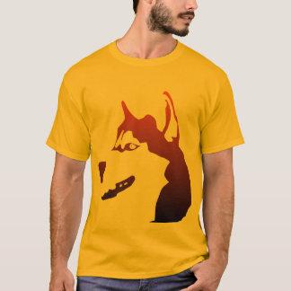 Camiseta do cão do rouco Siberian
