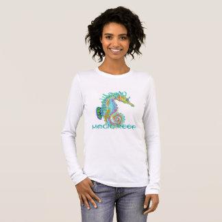 Camiseta do cavalo marinho com logotipo mágico do